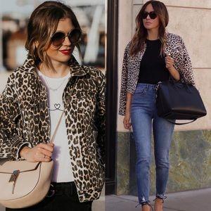 Jean jacket denim Leopard animal prints